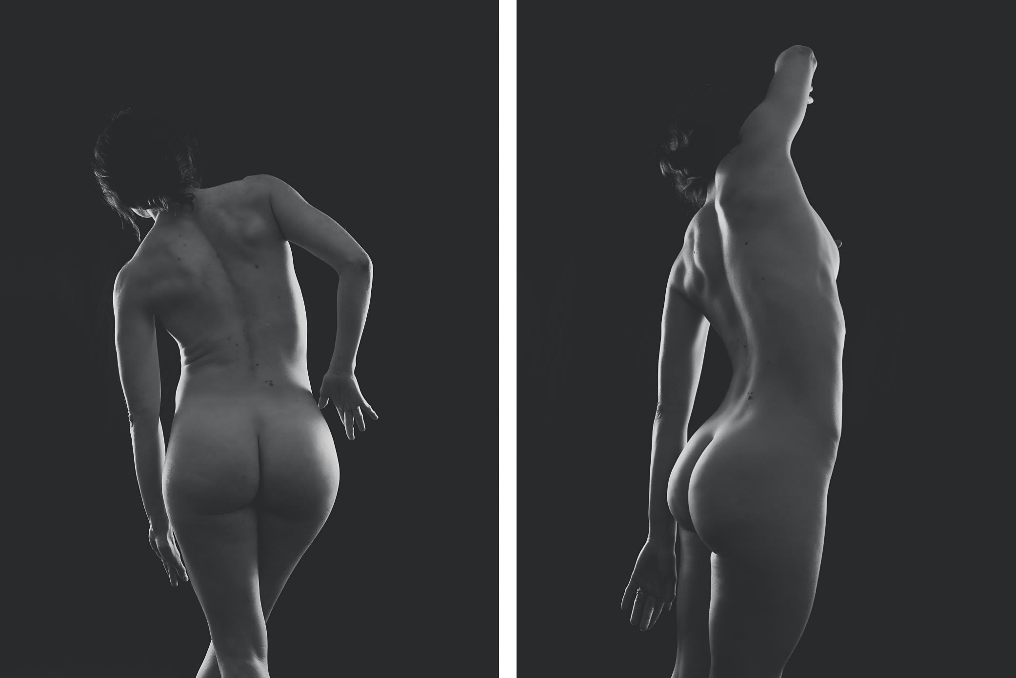 Back view nude female movement by Gpix Photo
