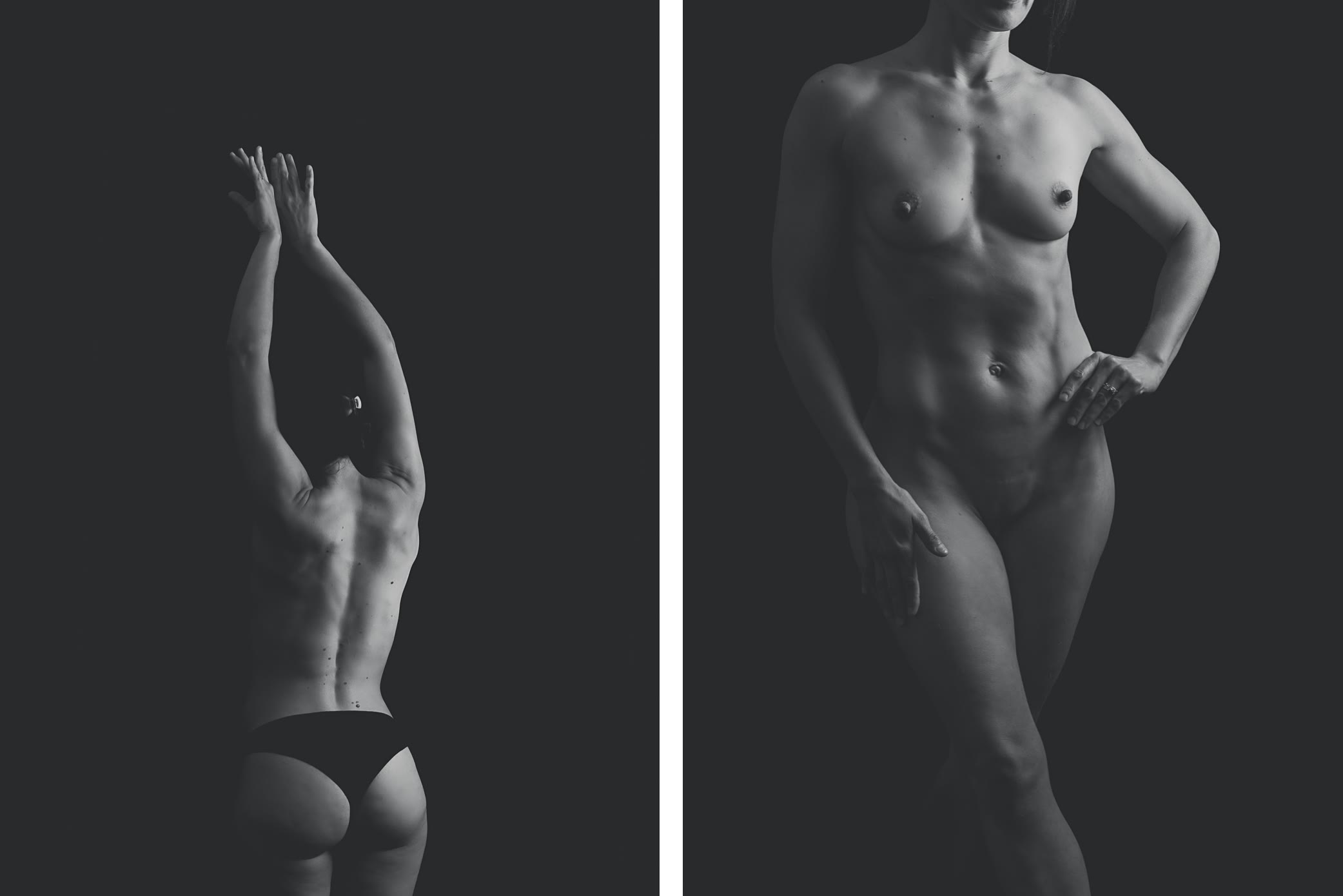 Nude female body front and back by Gpix Photo