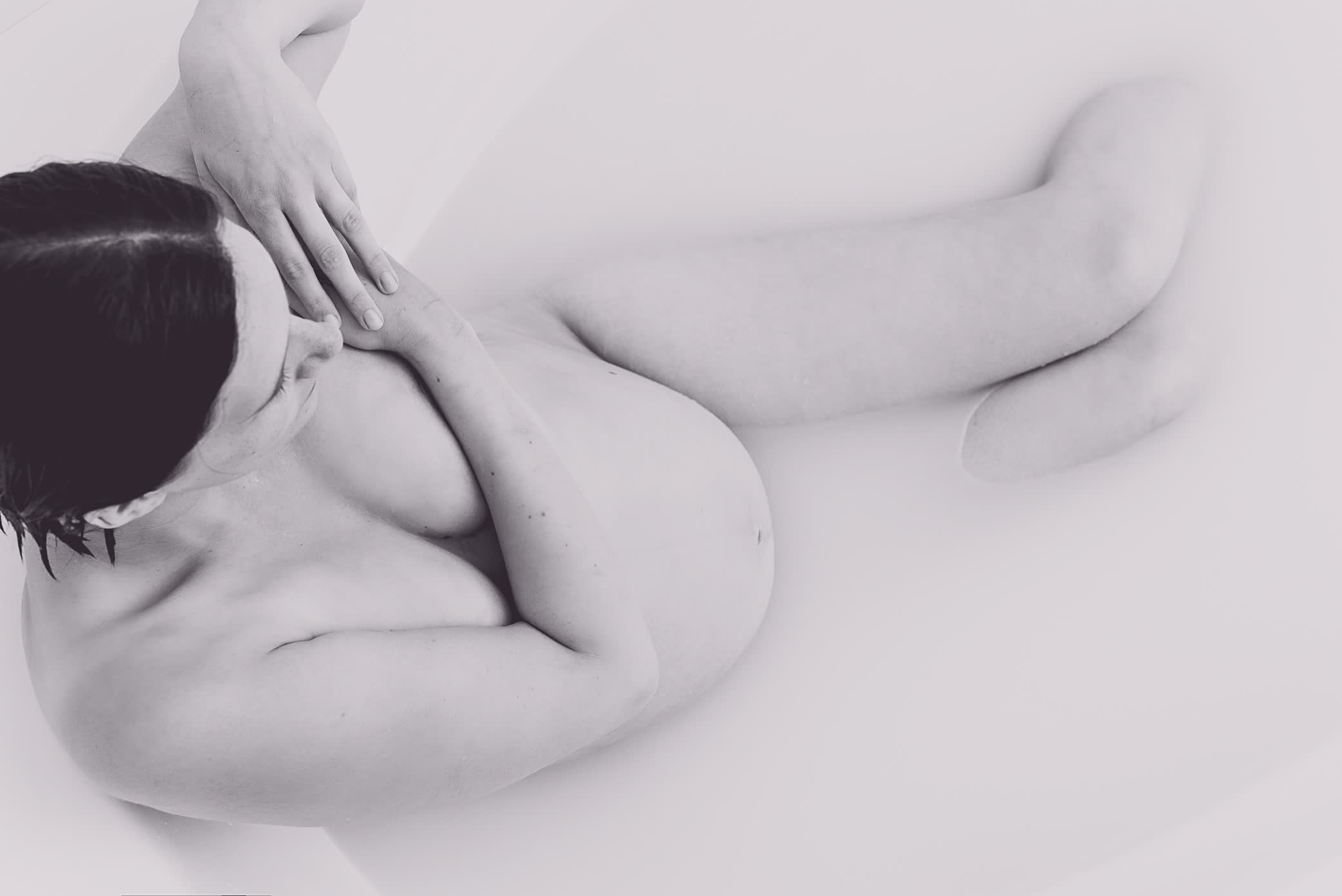 Maternity milk bath photography