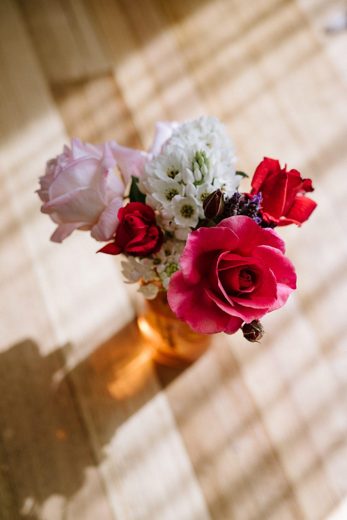 Flowers in the boudoir studio